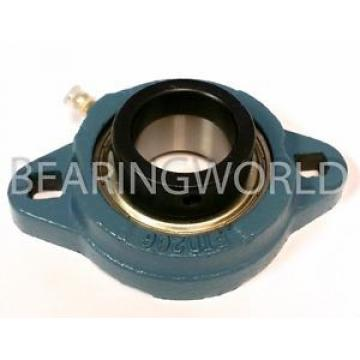 """SAFTD206-17G QJ1080N2MA Four point contact ball bearings 176180K New 1-1/16"""" Eccentric Locking Bearing with 2 Bolt Ductile Flange"""