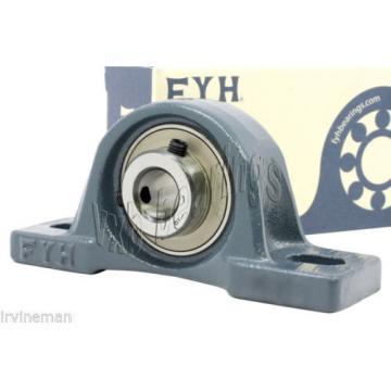 """FYH 242/500CAF3/W33 Spherical roller bearing NAPK206-20 1 1/4"""" Pillow Block eccentric locking collar Mounted Bearings"""