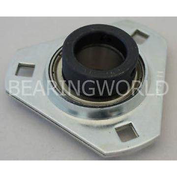 SAPFT206-30MM QJ222MA Four point contact ball bearings 176222 High Quality 30mm Eccentric Pressed Steel 3-Bolt Flange Bearing