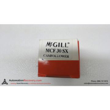 MCGILL MCF 30 SX CAMFOLLOWER 30MM OUTER DIAMETER, NEW #113626