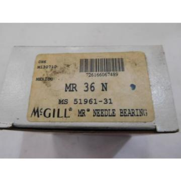 NEW,  McGILL  NEEDLE BEARING  P/N  MR 36 N