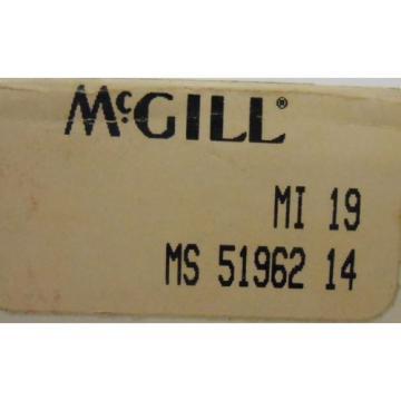 "MCGILL, NEEDLE ROLLER BEARING INNER RING, MI 19, 1.1875"" BORE, MS 51962 14"