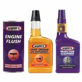 WYNNS 3 Pack ENGINE FLUSH + OIL STOP SMOKE + DIESEL INJECTOR CLEANER TREATMENT