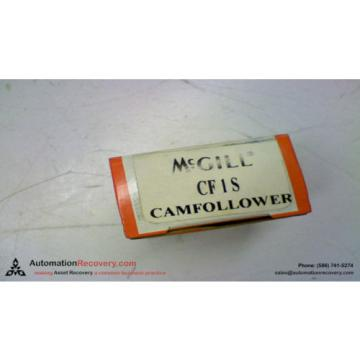 "MCGILL CF1S CAM FOLLOWER 1"" ROLLER DIAMETER 7/16"" STUD DIAMETER, NEW #103631"