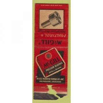 Matchbook Cover - McGill Bearings Valparaiso IN POOR