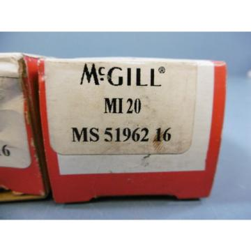 Lot of 2 McGIll MI-20 Inner Race for Roller Bearing New