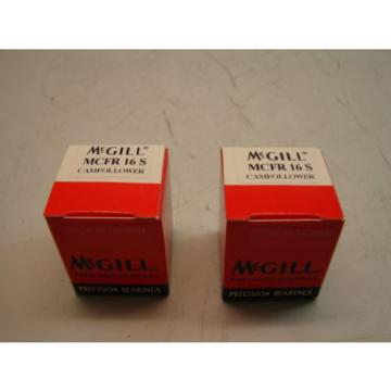 MCGILL MCFR 16 S CAMFOLLOWER PRECISION BEARINGS (LOTS OF 2)  **NIB**