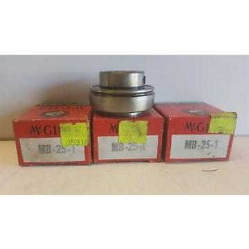 LOT OF (3) NEW OLD STOCK! MCGILL INSERT BEARINGS MB-25-1