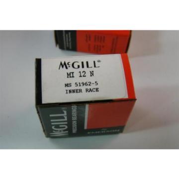 (4) Emerson McGill Precision Bearings Inner Race  MI 12 N M124860 MS 51962-5